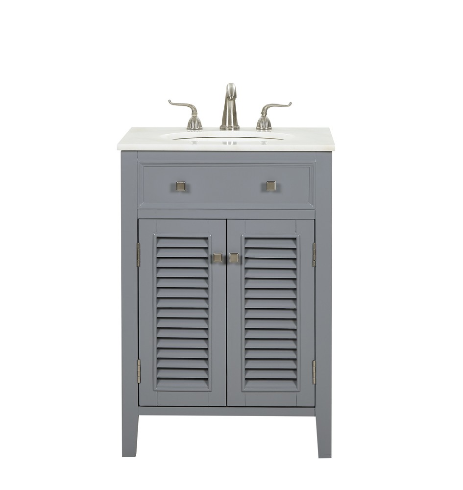 24 In Single Bathroom Vanity Set In Grey J19eh Luminati